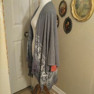 Mossimo Supply Co. Sweaters - NWT fringed shawl/cardigan w/ tribal native print